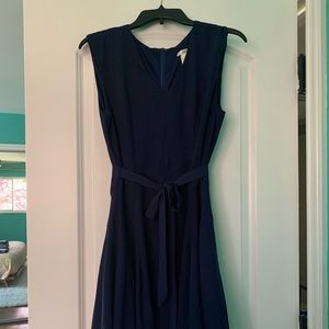 Esley - Navy fit and flare dress: Medium